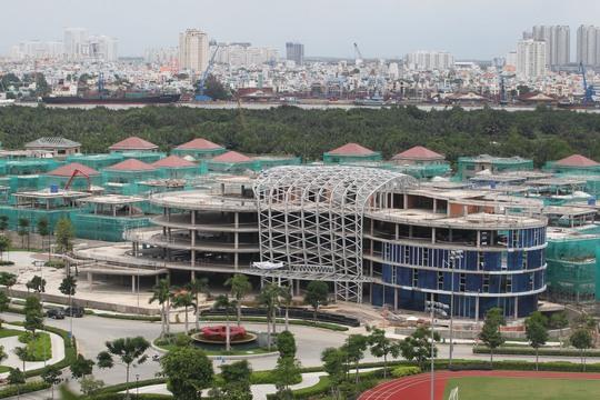 Khu đô thị Sala ở Thủ Thiêm đã bắt đầu hình thành những căn nhà ở hiện đại, khang trang