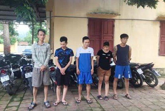 Các đối tượng trong ổ nhóm chuyên trộm cắp xe máy ở Thanh Hóa sa lưới