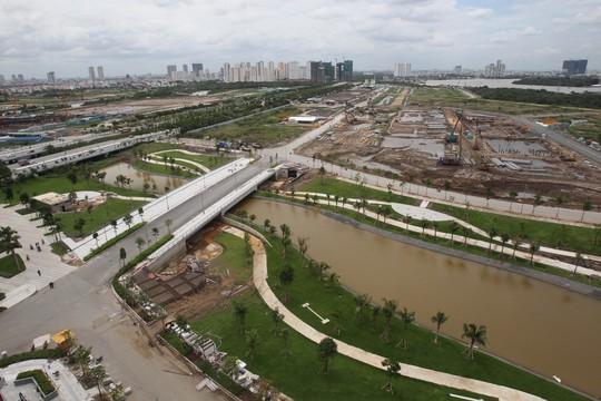Giao thông dần kết nối hoàn chỉnh trong khu đô thị Thủ Thiêm