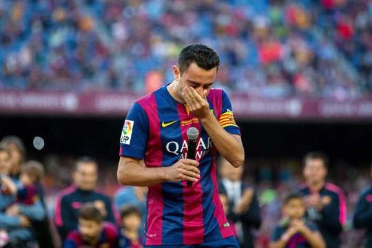 Xavi trong ngày chia tay Barcelona