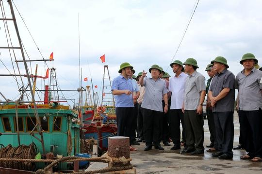 Phó Thủ tướng đi kiểm tra nơi neo đậu tàu thuyền