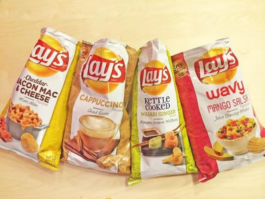 Snack Lays của Mỹ lại có tên gọi khác ở Anh.
