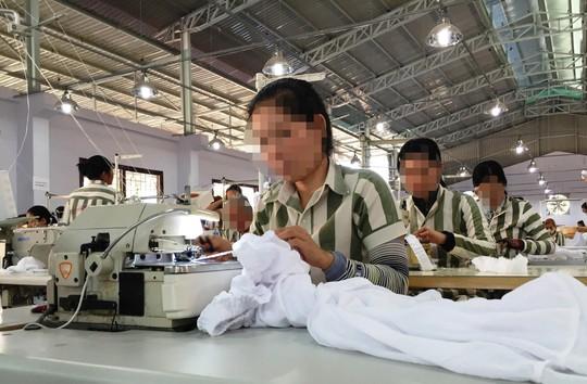 Phạm nhân Trại giam Z30D lao động cải tạo Ảnh: Lê Phong