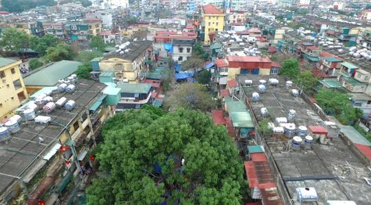 Trên nóc tòa nhà B5 và B6 - Khu tập thể Thành Công, Hà Nội.