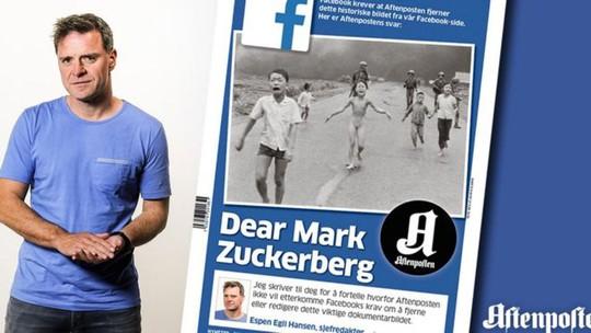 Espen Egil Hansen, người đã viết thư ngỏ gửi ông chủ Facebook Mark Zuckerberg là biên tập viên của tờ Aftenposten, tờ báo lớn nhất Na Uy. Ảnh: Aftenposten/Nick Út