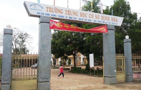 Ngôi trường nơi xảy ra sự việc thầy giáo đánh học sinh phải nhập viện bó bột