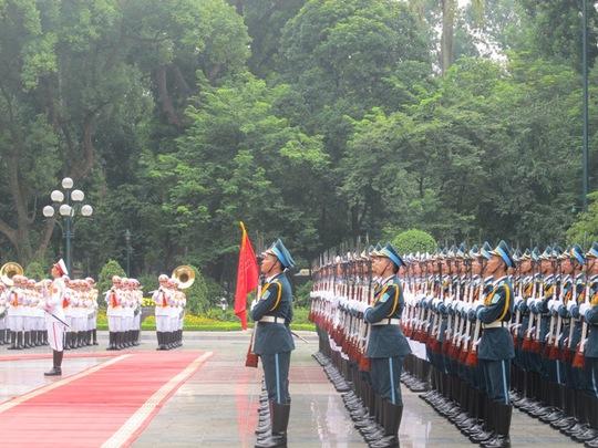 Đội tiêu binh sẵn sàng cho lễ đón chính thức