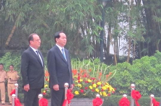 Chủ tịch nước Trần Đại Quang chủ trì lễ đón theo nghi thức cấp cao