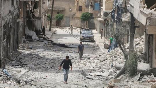 Khung cảnh tan hoang tại TP Aleppo. Ảnh: Reuters