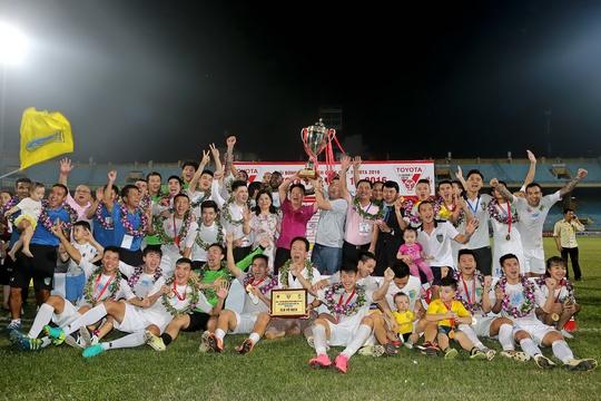 Hà Nội T&T vô địch V-League 2016Ảnh: Hải Anh