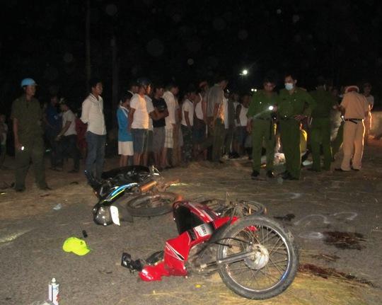 Hiện trường vụ tai nạn ở Gio Linh
