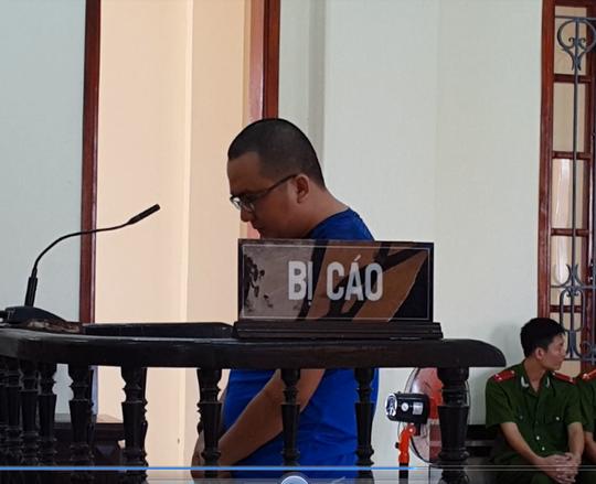 Bị cáo Võ Xuân Lâm tại phiên tòa