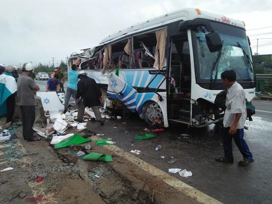 Vụ tai nạn khiến 1 người chết xảy ra lúc ở tỉnh Quảng Nam có mưa lớn Ảnh: Đại Chí