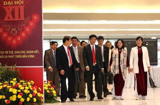 Các đại biểu tham dự Đại hội XII sáng 21-1