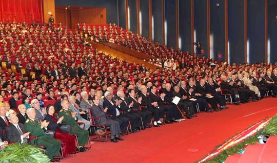 Các đại biểu dự Lễ khai mạc Đại hội XII