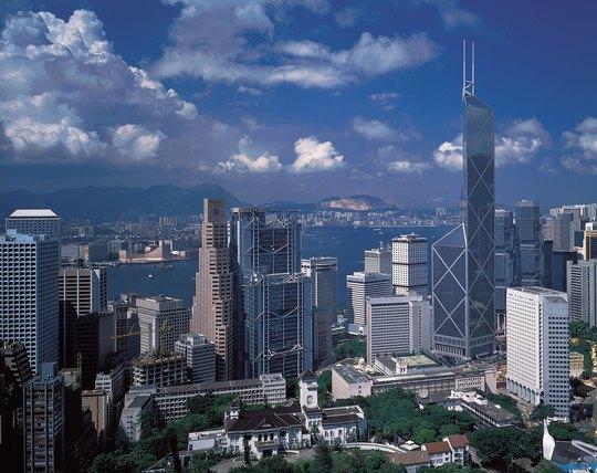 Tòa nhà cao chọc trời Bank of China Tower.
