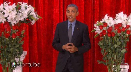 Tổng thống Mỹ Barack Obama đã gửi một bài thơ tình. Ảnh: Ellentube