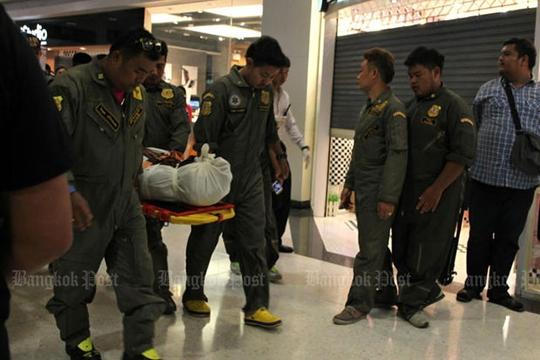 Ông Suchart Pheupradit và bà Pijakkana Somsakul đã chết tại hiện trường. Ảnh: Bangkok Post