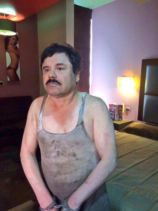 Trùm ma túy Joaquin Guzman Loera vừa bị bắt lại. Ảnh: NBC News