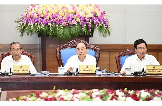 Thủ tướng Nguyễn Xuân Phúc chủ trì phiên họp Chính phủ thường kỳ vào sáng 1-9. Ảnh: QUANG HIẾU