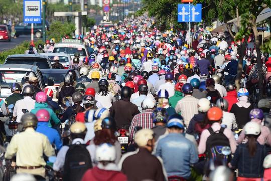 Kẹt xe luôn là nỗi ám ảnh ở TP HCM Ảnh: Hoàng Triều