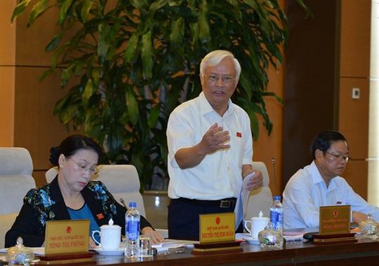 Phó Chủ tịch Quốc hội Uông Chu Lưu cho ý kiến về dự thảo Luật Quy hoạch vào ngày 16-9