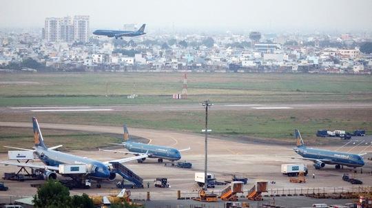 Khu vực đỗ của sân bay quốc tế Tân Sơn Nhất Ảnh: Hoàng Triều