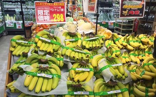 Chuối Việt Nam được bày bán tại hệ thống siêu thị bán lẻ Don Kihote tại Tokyo, Nhật Bản.