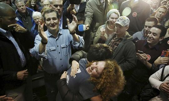 Thượng nghị sỹ bang Texas Ted Cruz giành chiến thắng bên phía đảng Cộng hòa. Ảnh: Reuters