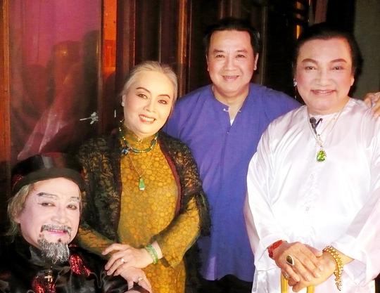 NSƯT Thanh Nguyệt và ba nam nghệ sĩ gắn bó với Sân khấu Vàng: Hùng Minh, Bảo Quốc và Phú Quý