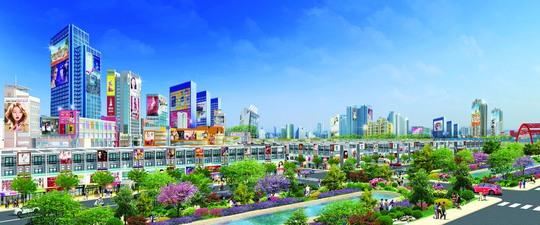 Phối cảnh dự án khu đô thị thương mại dịch vụ Đại Phước Center City