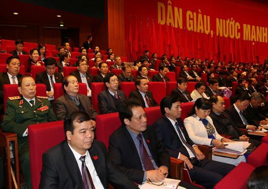 Các đại biểu tham dự Đại hội XII ngày 22-1