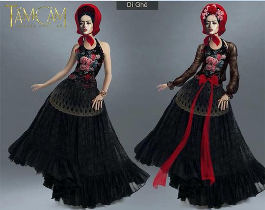 Phác thảo trang phục nhân vật dì ghẻ