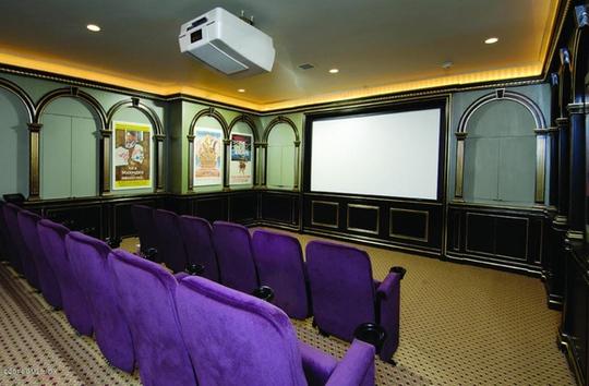 Một phòng chiếu phim vô cùng hoành tráng ngay trong nhà