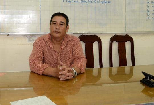 Nghi can Phạm Minh Hải tại cơ quan điều tra