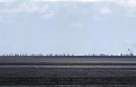 Trung Quốc tuyên bố tập trận trên biển Đông. Ảnh: Reuters