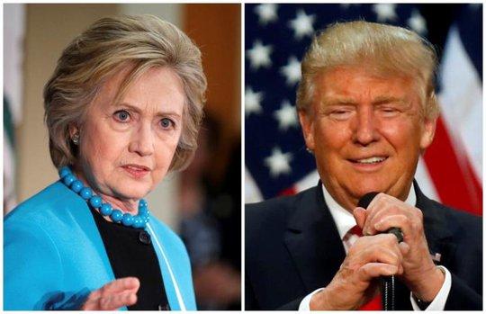Bà Clinton không ngừng chỉ trích ông Trump. Ảnh: Reuters