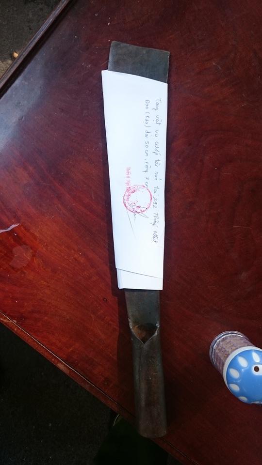 Con dao Linh trộm được từ một nhà khác dùng làm hung khí
