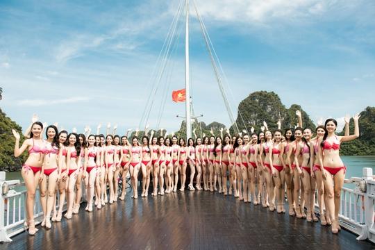 Ứng viên Hoa hậu Việt Nam 2016 nổi bật với bikini đỏ