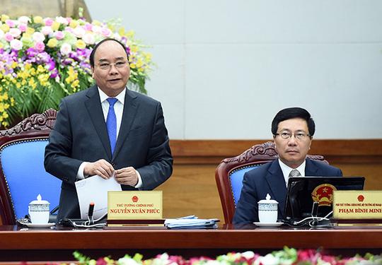 Thủ tướng Nguyễn Xuân Phúc nhấn mạnh Chính phủ và từng thành viên phải đi đầu trong tiết kiệm Ảnh: chinhphu.vn