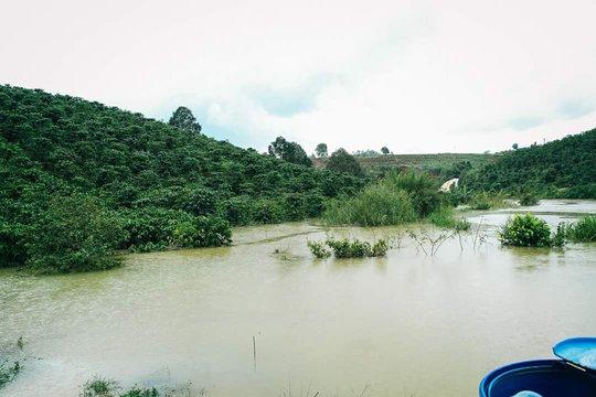 Nước ngập sâu cây trồng và đường dân sinh kéo dài hơn 2 tháng, thiệt hại nặng nề.