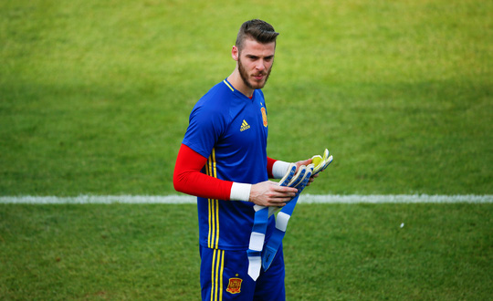 Thủ môn De Gea trên sân tập của tuyển Tây Ban Nha vào ngày 9-6