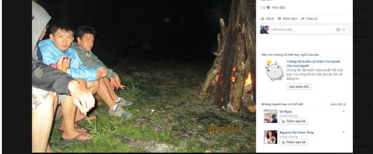 Các bức ảnh đốt lửa trại được định vị tại Hòn Bà được cho là ghi lại vào ngày 10-5-2014