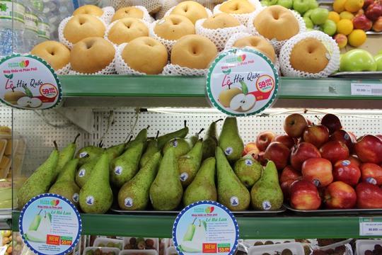Nhiều loại trái cây nhập khẩu bán tại Satrafoods