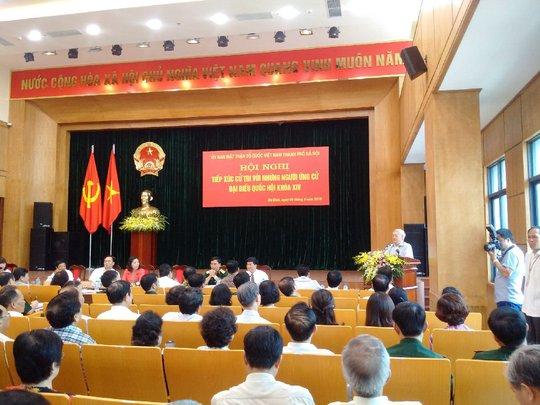 Tổng Bí thư trình bày chương trình hành động trước cử tri
