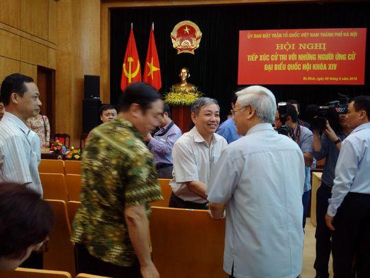 Tổng Bí thư Nguyễn Phú Trọng trò chuyện cùng cử tri quận Ba Đình, Hà Nội