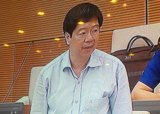 Thứ trưởng Bộ KH-CN Trần Quốc Khánh trả lời câu hỏi - Ảnh chụp qua màn hình
