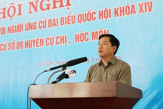 Ông Đinh La Thăng trình bày chương trình hành động tại hội nghị