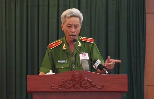 Thiếu tướng Phan Anh Minh, Phó Giám đốc Công an TP HCM tại hội nghị tổng kết công tác phòng, chống tham nhũng, lãng phí năm 2015