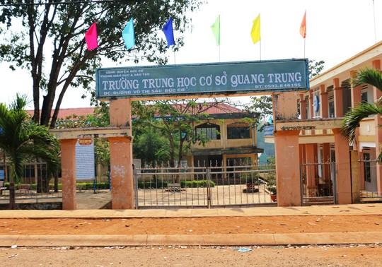 Trường THCS Quang Trung nơi xảy ra vụ việc